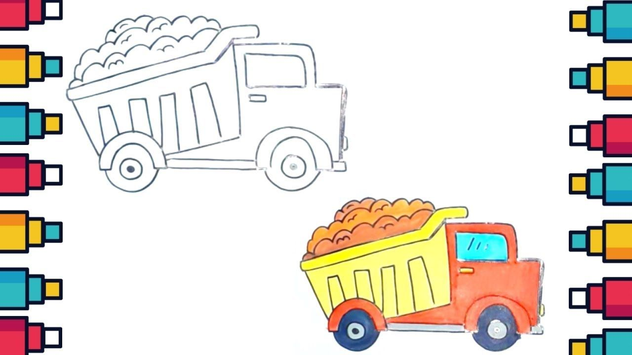 How To Draw Truck For Kids Easy Trucks Drawings Kids