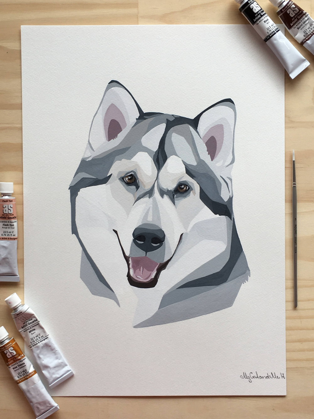 Malamute Pet Portrait Custom Portrait Husky Dog Portrait Etsy In 2020 Pet Portraits Custom Portraits Dog Portraits