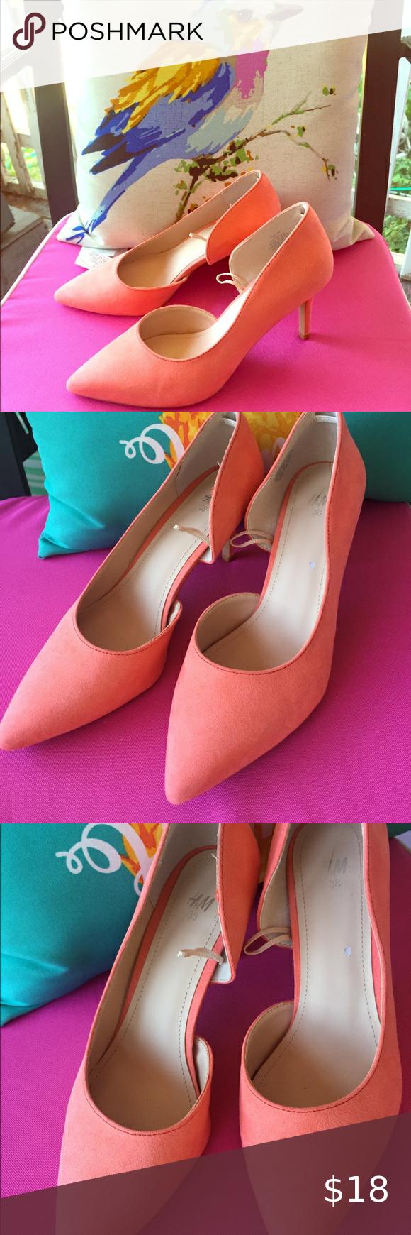Donating Soon H M Coral Pumps Heels In 2020 Pumps Heels Heels Shoes Women Heels