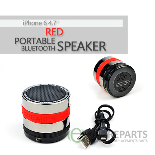 "Red Portable Bluetooth Speaker for iPhone 6 4.7"" #iPhone6#Speakers #PortableSpeakers#AppleAccessories #Accessories#Apple #RedSpeakers"