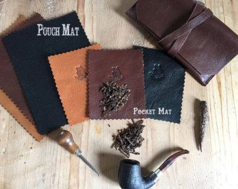 LeatherTobacco Mat Comes in 3 different by SorringowlandSons
