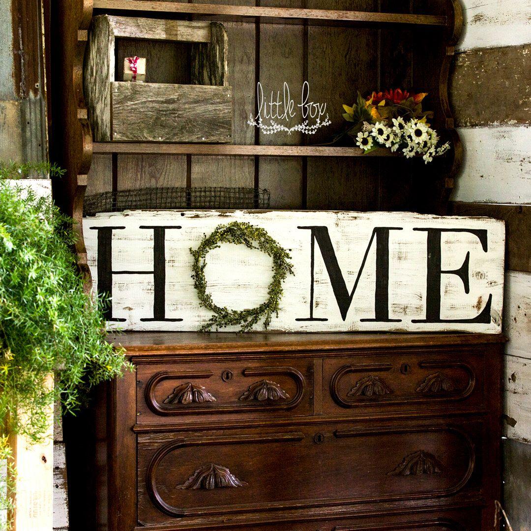 Farmhouse Decor, Rustic Home Decor, Home Wreath Sign, Home Sign ...