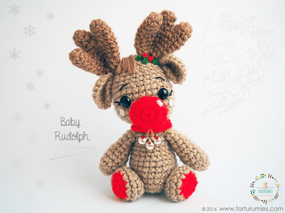 Amigurumi Patrón: Reno Baby Rudolph | Pinterest | Banderas españolas ...