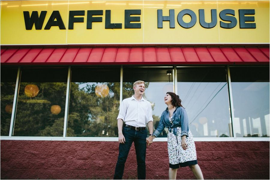Waffle House Engagement Session Amore Vita Photography Www Amorevitaphotos Com Huffpostido Buzzfeedweddings Waffle House Engagement Session Engagement