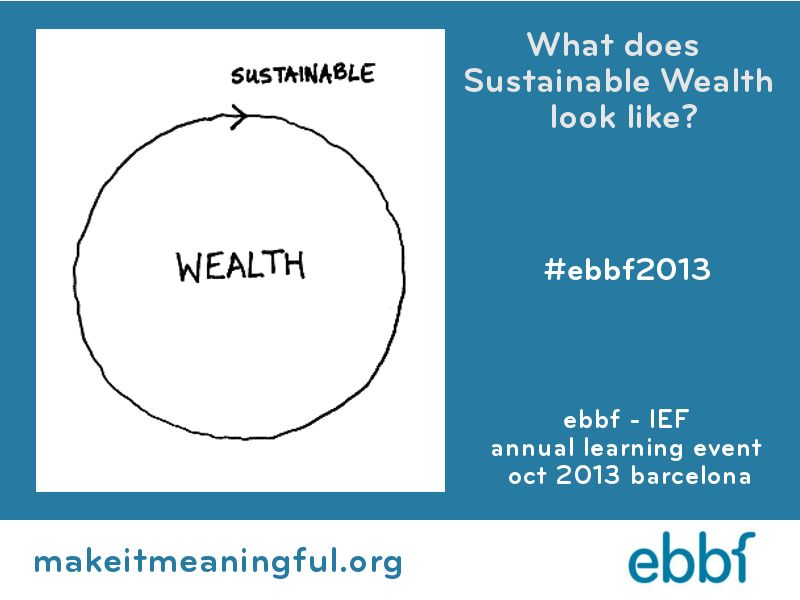 What does sustainable wealth look like? ebbf2013
