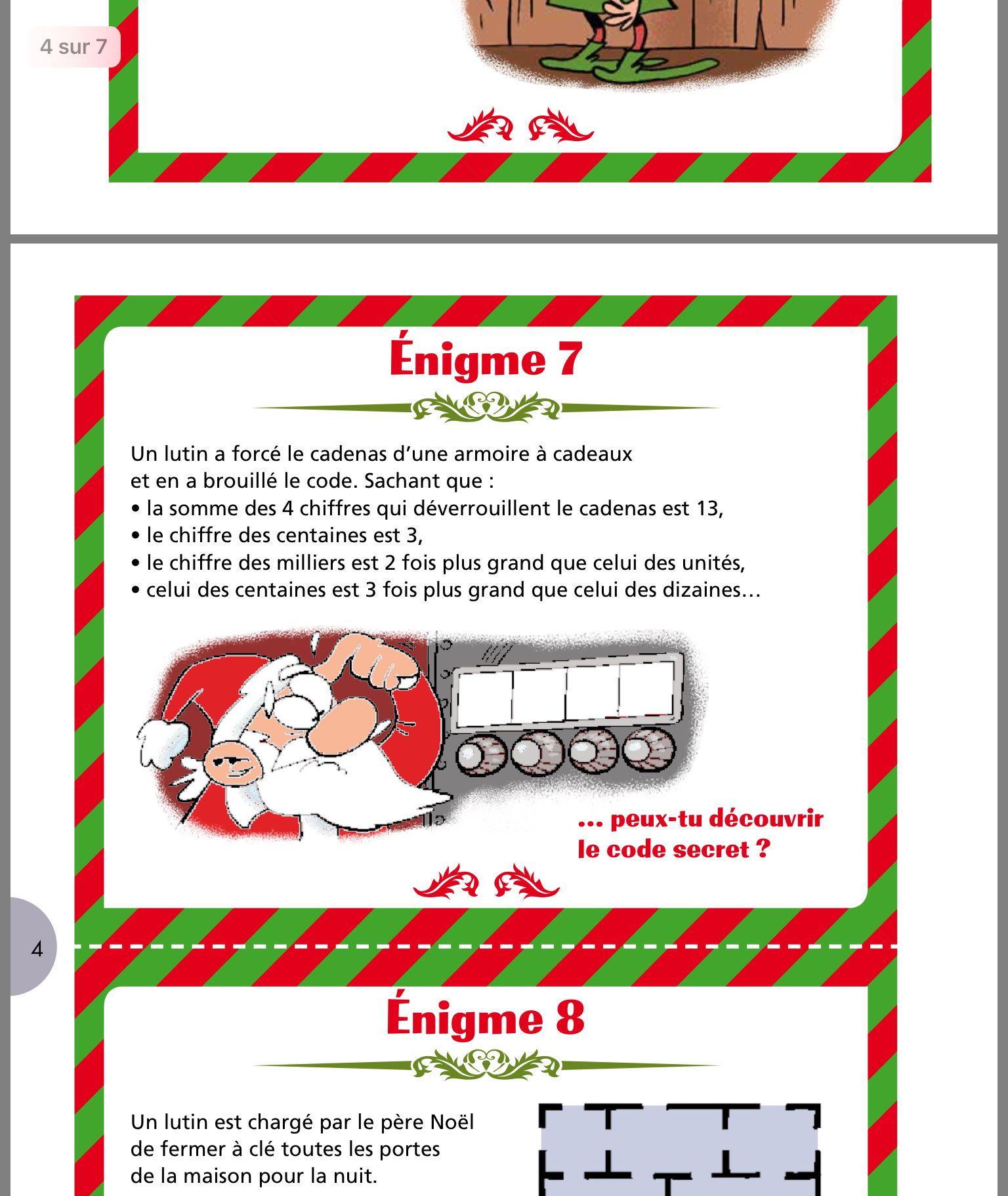 Epingle Par Carine Courtemanche Sur 4e Annee Enigmes De Noel Jeux Noel Party De Noel