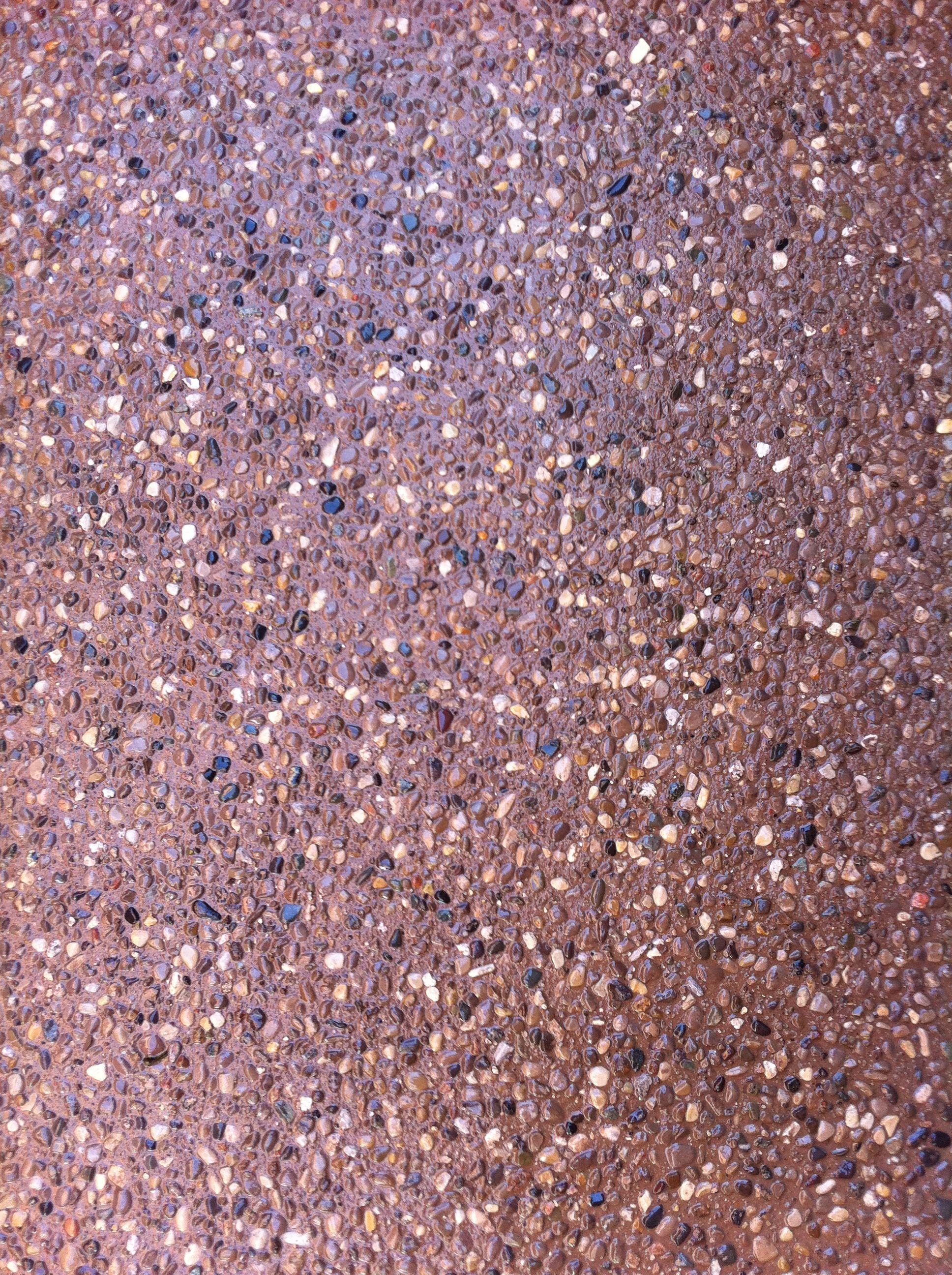 Awesome Exposed Aggregate Concrete With Colored Stone And Earthen Colour