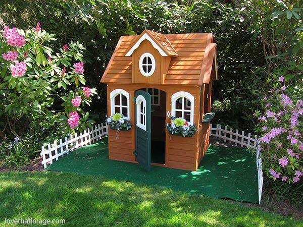 Playhouse landscaping ideas Garden Pinterest