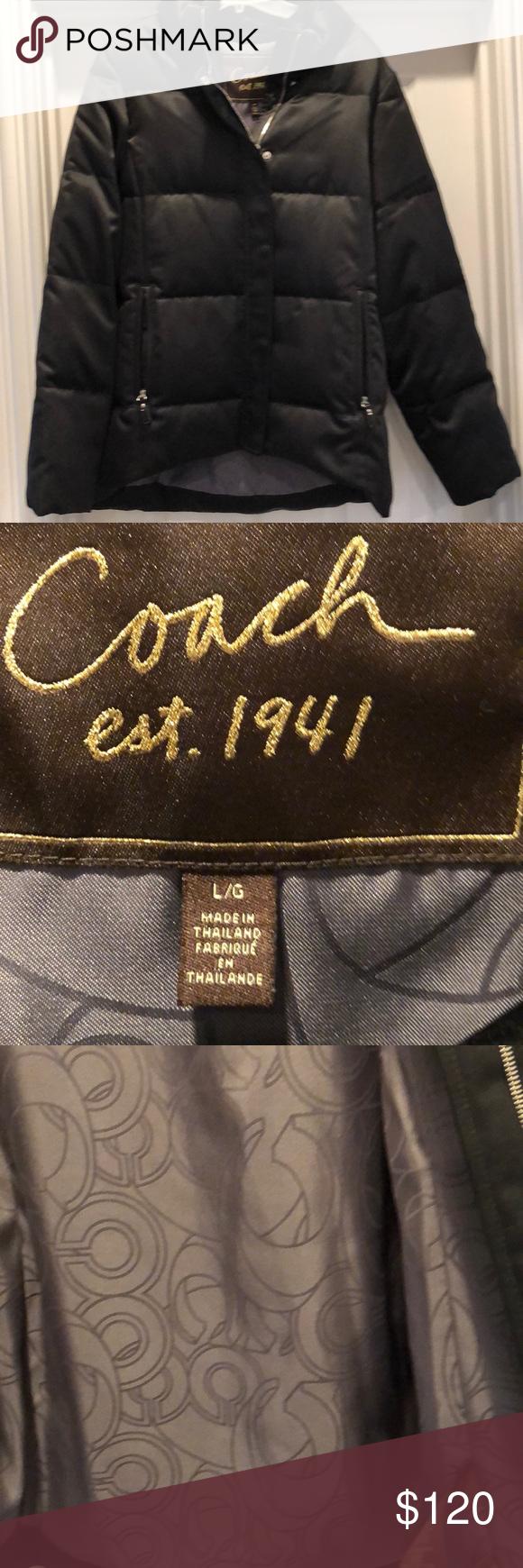 Coach Black Puffer Coat Like New Great Condition Black Puffer Coat Black Puffer Puffer Coat [ 1740 x 580 Pixel ]