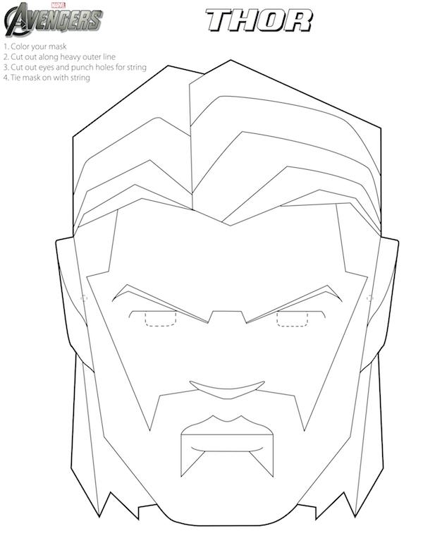 Vengadores: Máscaras para Colorear para Imprimir Gratis ...