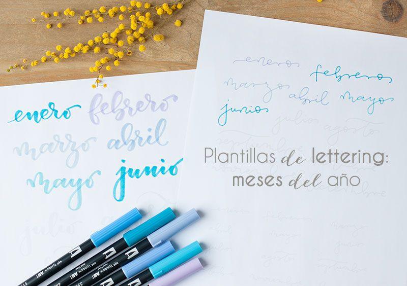 Plantillas de lettering: los meses del año