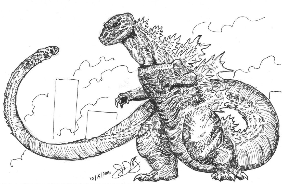 Godzilla Printable Coloring Pages 2333055 Beim