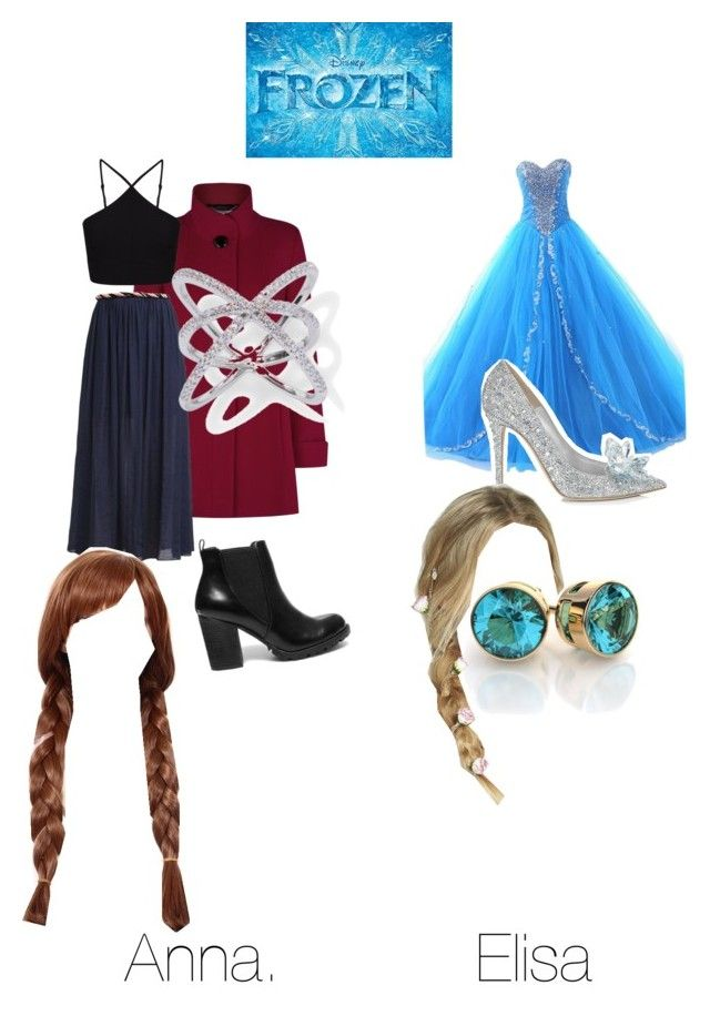 Frozen Anna and Elisa by mqweber on Polyvore featuring polyvore, fashion, style, Miss Selfridge, Jacques Vert, Suncoo, Jimmy Choo, Steve Madden, Disney and Berry