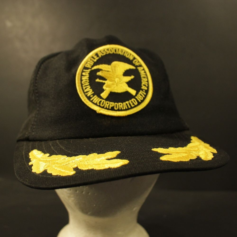 bbbf82d1 Vintage NRA Hat Cap Snapback National Rifle Association Patch USA ...