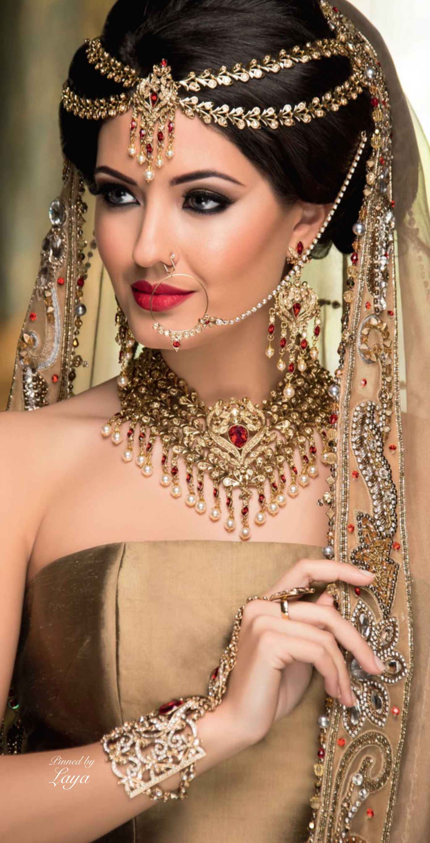 Unique Bridal Makeup : Indian Bride Laya My Style Pinterest