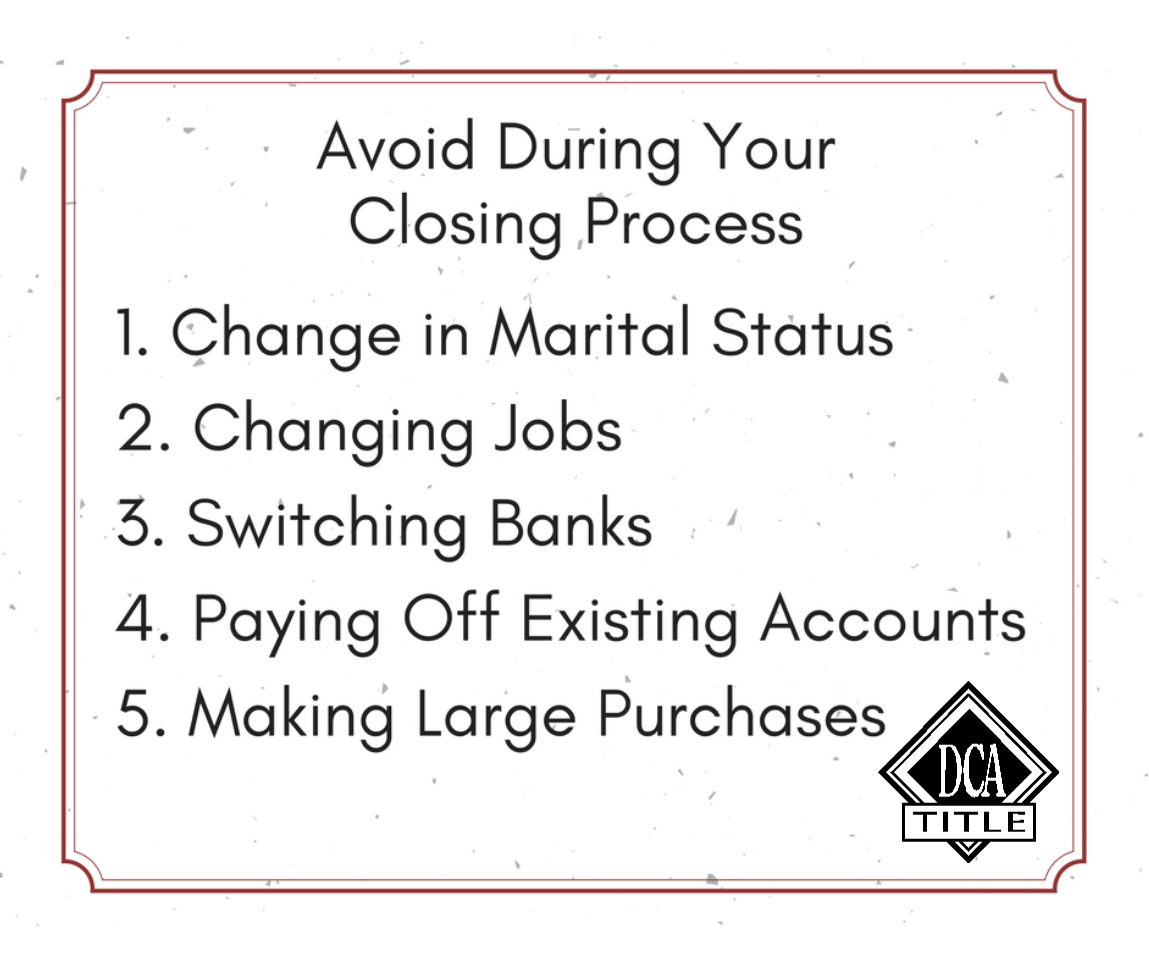 Tips for your closing process beprepared dcatitle
