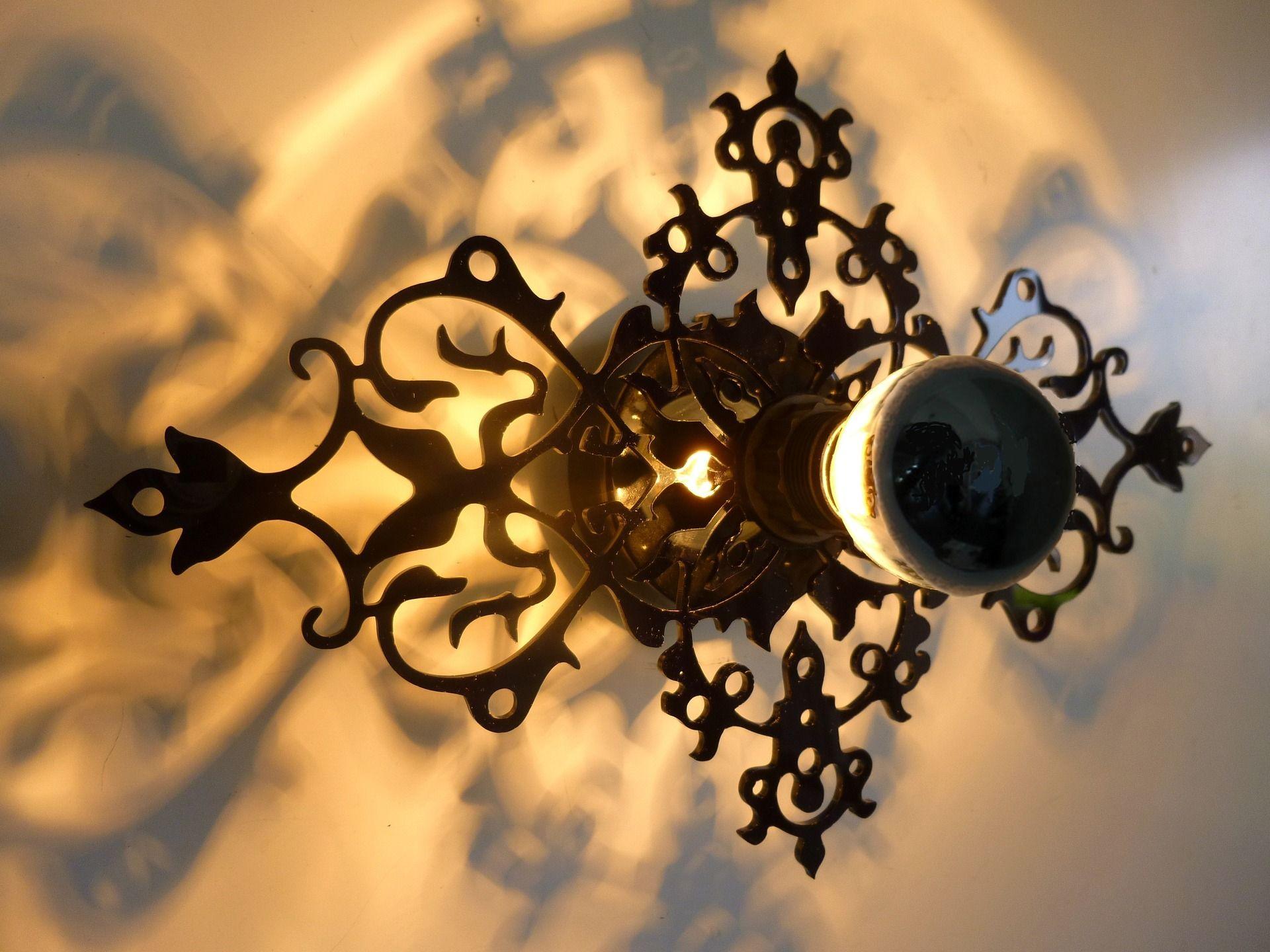 applique luminaire baroque design imperatrice 5d noir. Black Bedroom Furniture Sets. Home Design Ideas