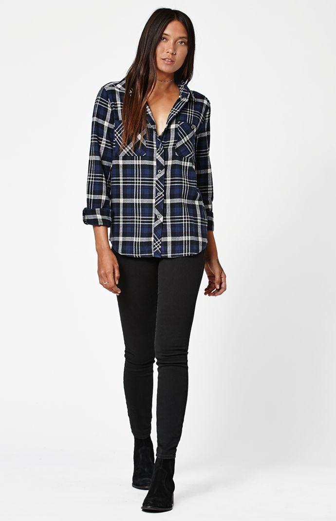 LA Hearts Plaid Flannel Button-Down Shirt at PacSun.com