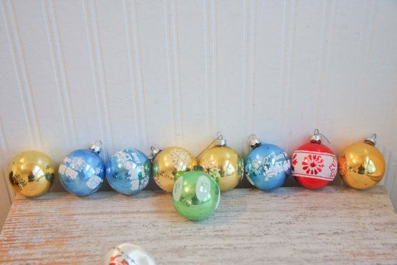 Noelle Ornaments Glass Ornaments Glass Balls by MollyFinds on Etsy