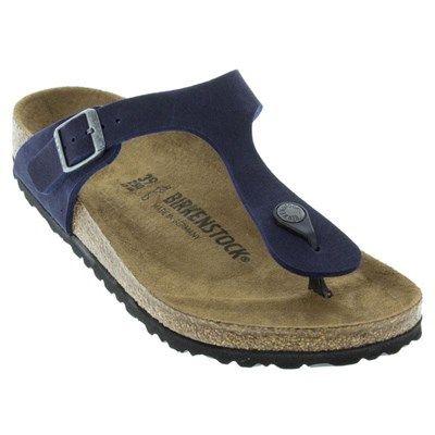 e12e6948803c Birkenstock Gizeh Vegan Microfiber Navy Sandals - HappyFeet.com ...