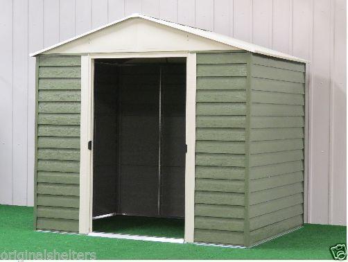 Arrow Metal Sheds8\u0027 x 6\u0027 Backyard/Garden Steel Storage DIY Shed Kit