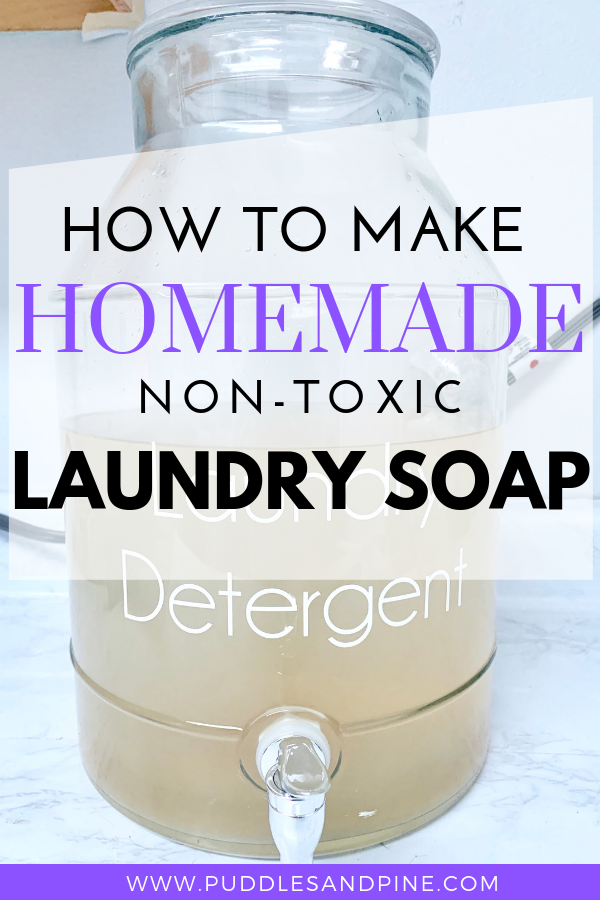 Homemade Non Toxic Laundry Detergent Homemade Laundry