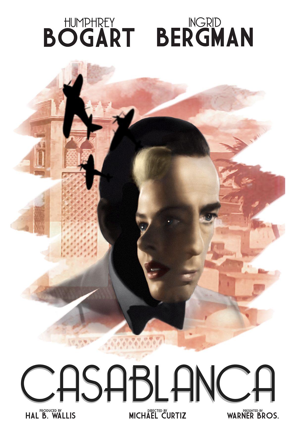 Casablanca movie poster redesign on behance casablanca movie