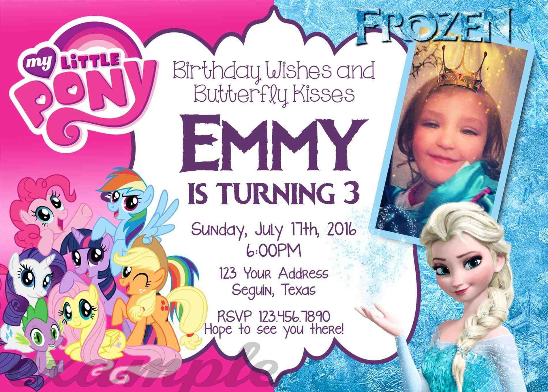 full size of template:free my little pony evite invitations with ...