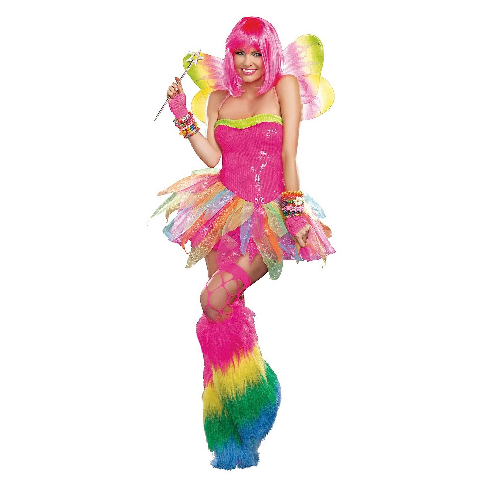 Women's Rainbow Fairy Costume X-Large, Size: XL, Pink