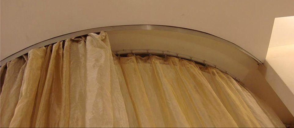 Flexible Ceiling Mounted Curtain Track Straight Bendable