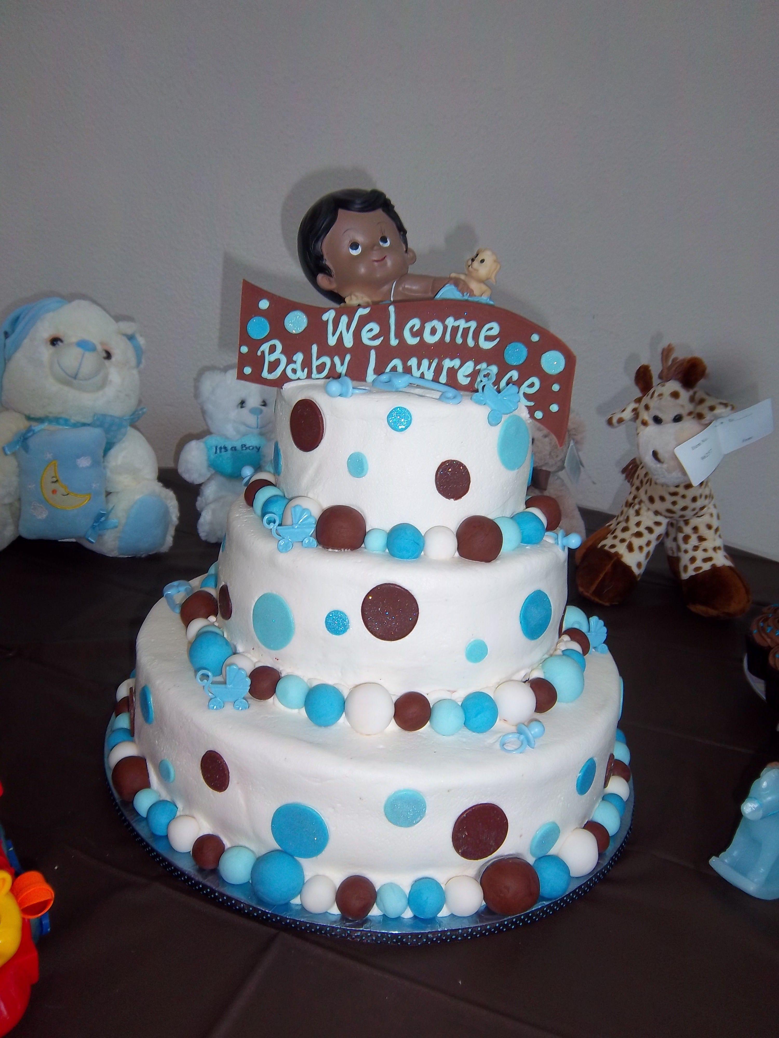 Boy baby shower cake Baby Shower Cakes for Boys Pinterest