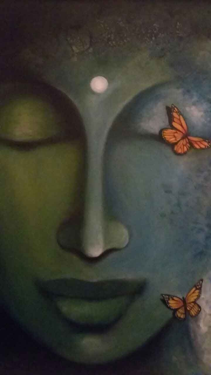 """""""When you look deeply into your anger, you will see that the person you call your enemy is also suffering. As soon as you see that, the capacity of accepting and having compassion for them is there.""""    ~  Thích Nhất Hạnh  Artist: Nirmallyo Ghosh   <3 lis"""