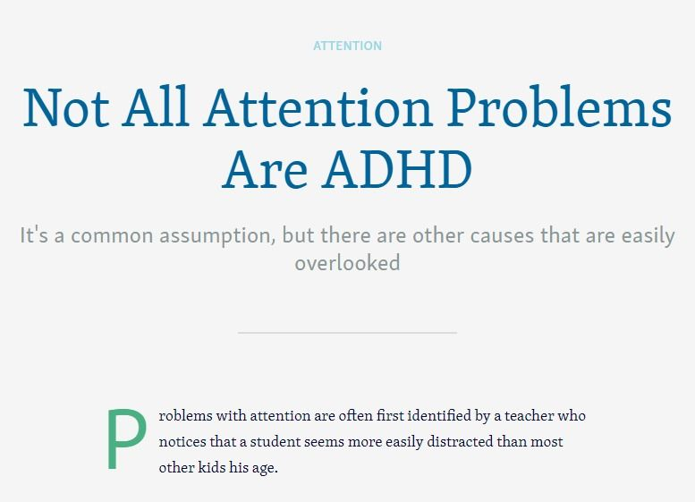 Not All Attention Problems Are Adhd >> Attention Problems Get The Right Diagnosis Diagnosis And