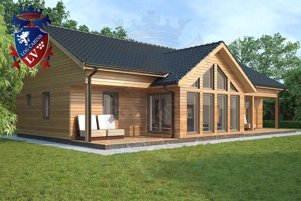 Oak framed bungalow google search exquisite log cabins for Oak framed house designs