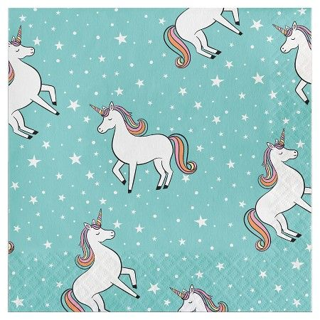 20 ct Unicorn Napkin Spritz Unicorns Birthdays and Unicorn