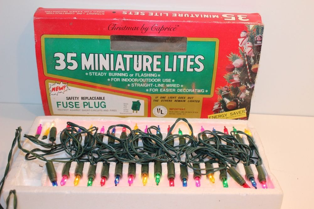 Miniature christmas 35 lights New Old Stock Vintage by Christmas by