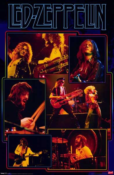 This amazing Led Zeppelin poster is HUGE! Almost as huge as the Rock and Roll sound of this legendary band! Fully licensed. Ships Super Fast. 39x54 inches. Ramble On over and check out the rest of our