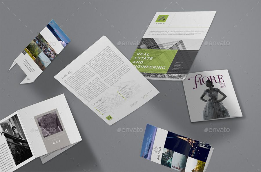Tri-Fold Flyers Mockup Bundle #Fold, #Tri, #Flyers, #Bundle