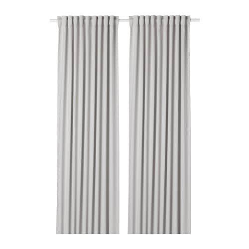 Zaslony Zaciemniajace Para Jasnoszary Do Skrocenia Przez Krawcowa Producent IKEA Kod 90346752 Cena 149zl