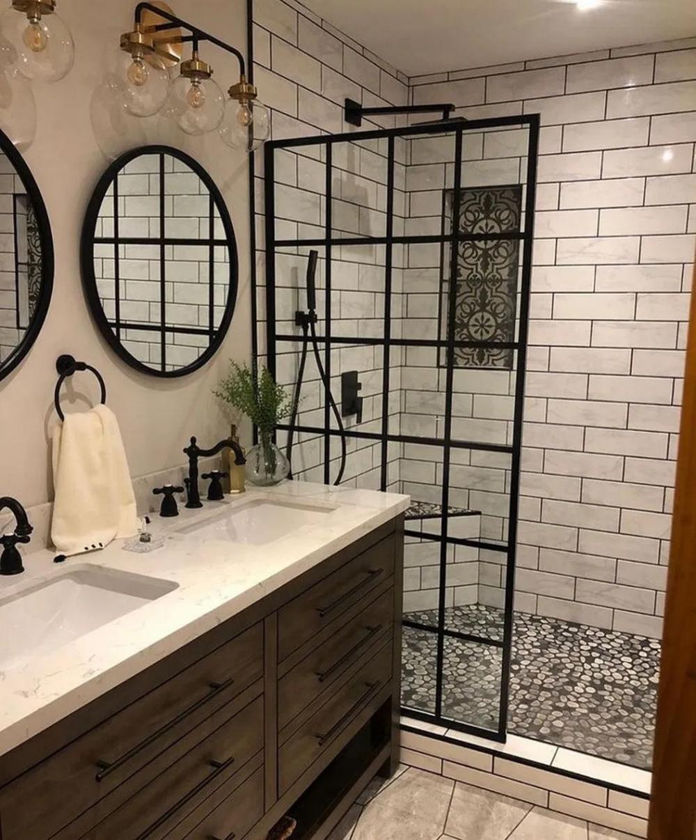 35 Beautiful Bathroom Color Scheme Ideas For Small Master Bathroom 1 In 2020 Modern Bathroom Renovations Bathroom Transformation Bathroom Design