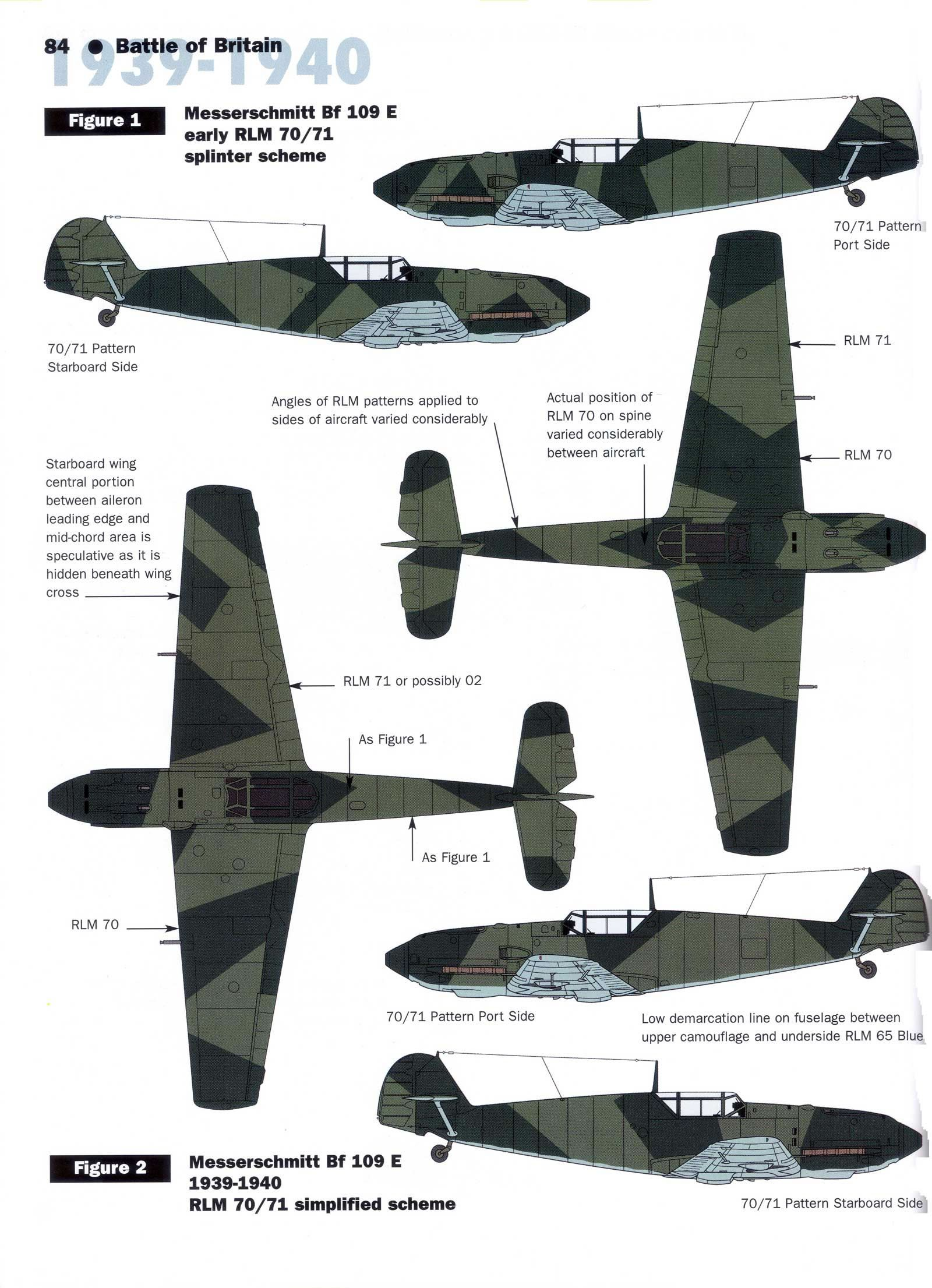 Art messerschmitt bf 109e early rlm 70 71 splinter scheme 1939 40 guide all you wanted to know about luftwaffe camouflage colors and patterns nvjuhfo Choice Image