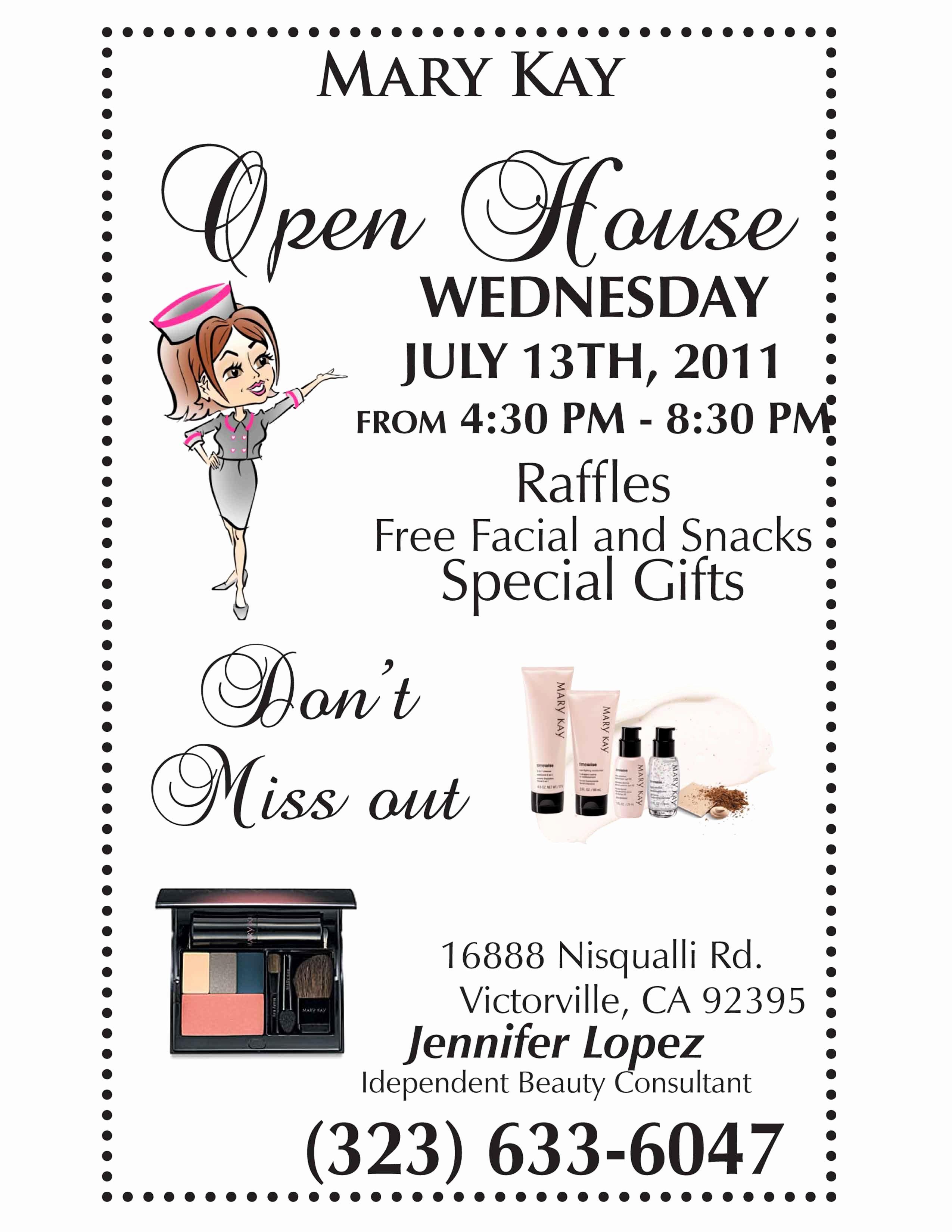 Mary Kay Party Invitation Ideas Beautiful Mary Kay Open