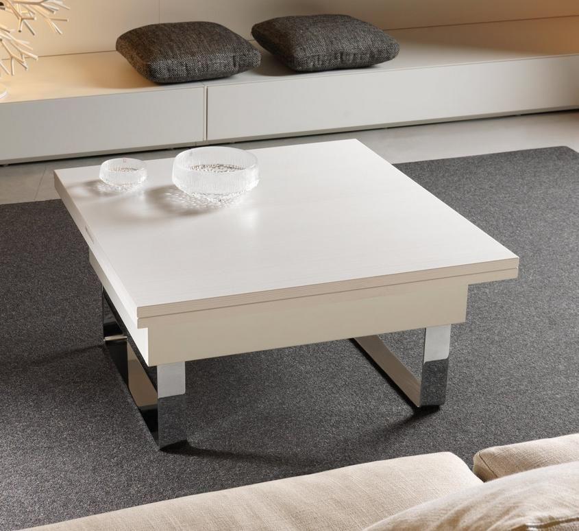 Table basse transformable et relevable supra teinte de for Table basse transformable