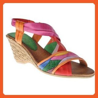 5f638df324df3 Azura Womens Velda Red Multi Espadrille - 40 - Sandals for women ...