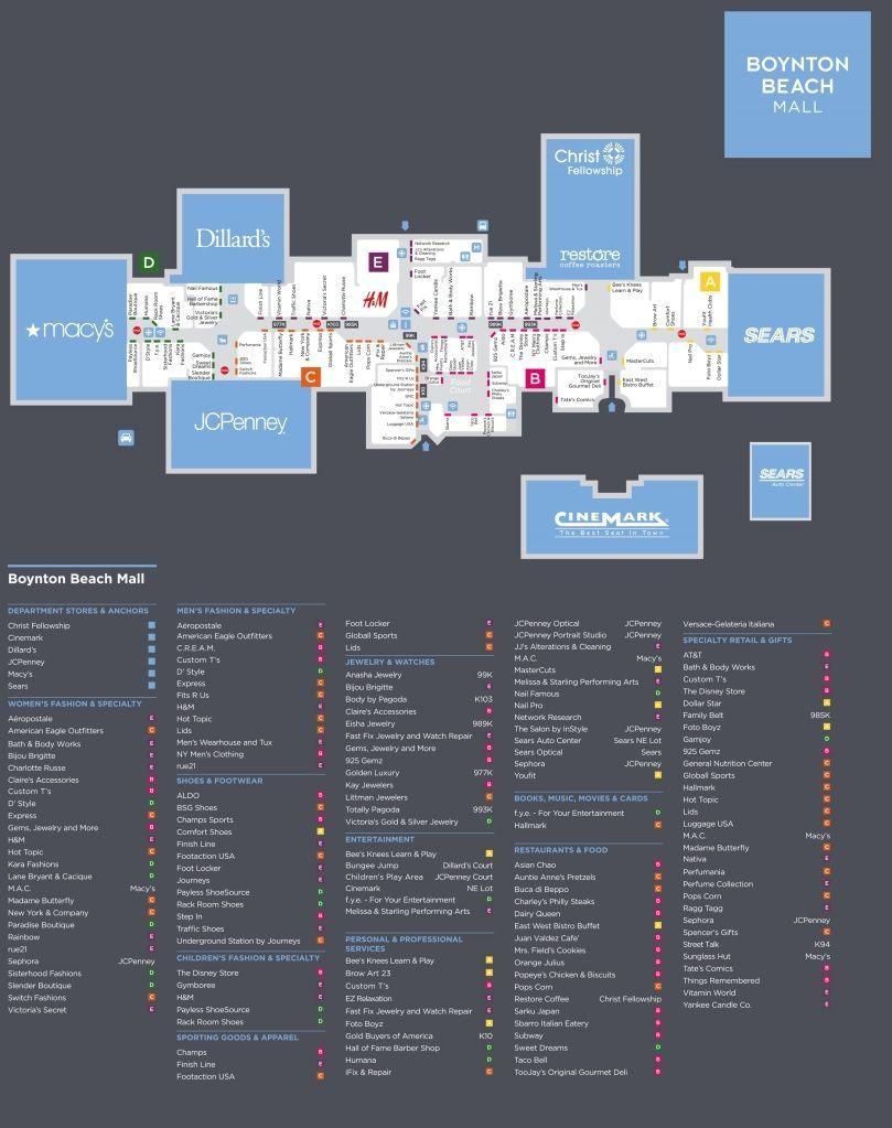 Boynton Beach Mall Shopping Plan With Images Boynton Beach