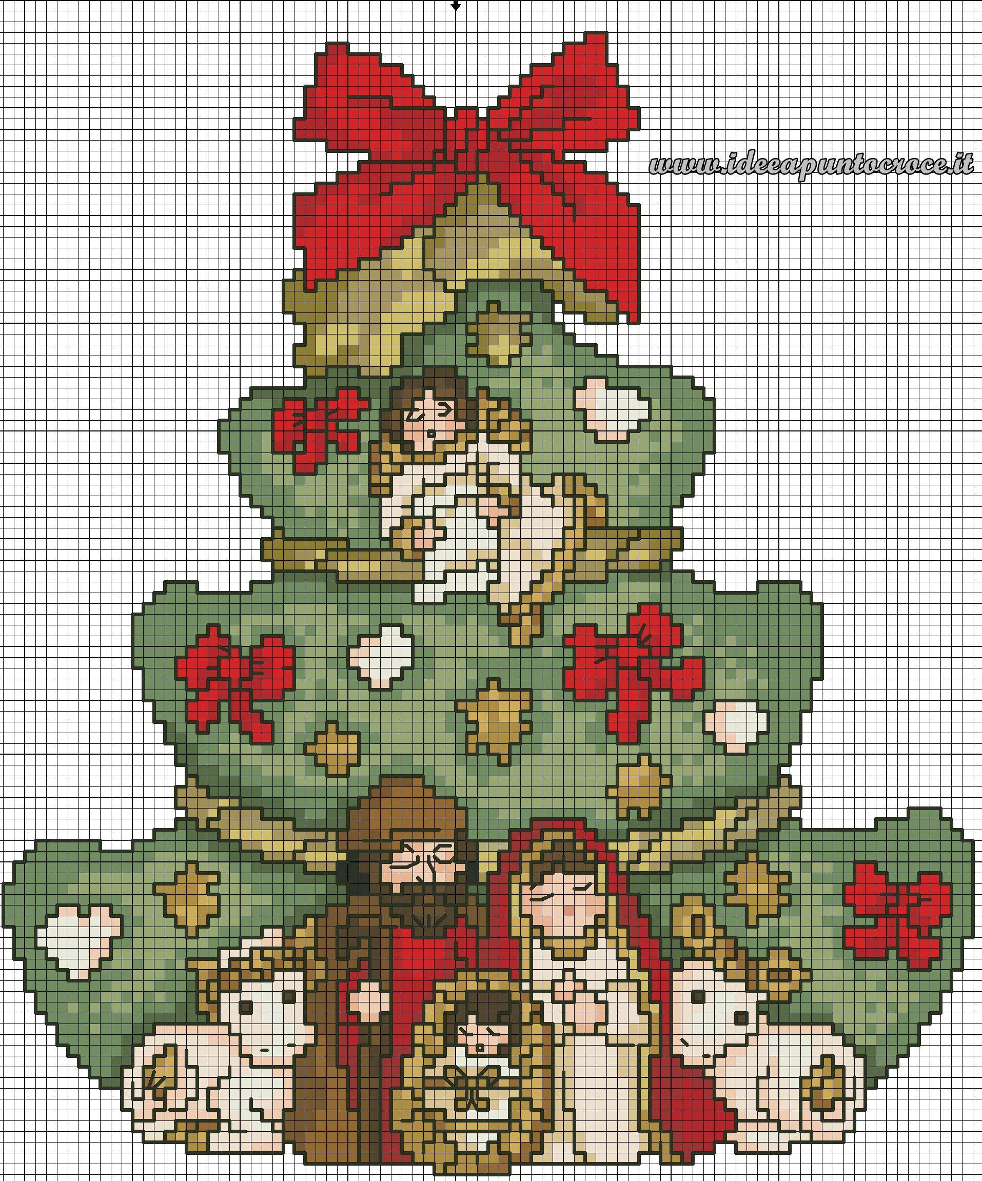 Risultati immagini per schema punto croce paesaggio for Immagini punto croce per bambini