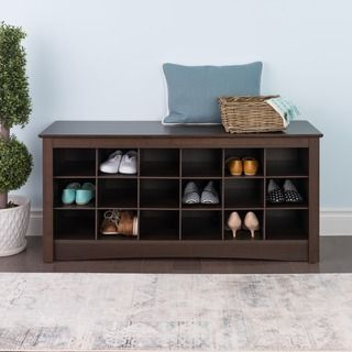 Winslow White Shoe Storage Cubbie Bench 12917977 Ping Great Deals On Benches
