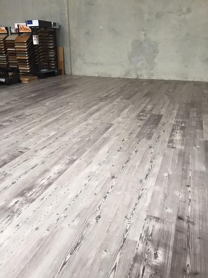 Outstanding Result Karndean Long Plank Laid To Expand Our Showroom Colour Weathered Heart Pine Flooring Wood Floors Wooden Flooring
