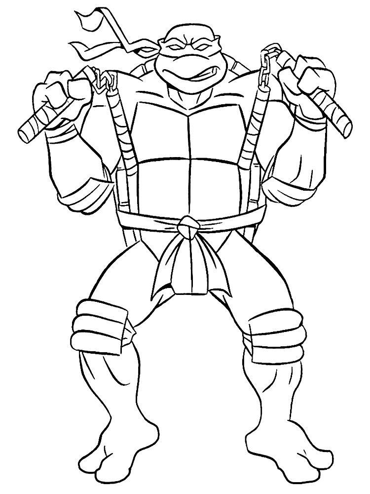 Descargar Gratis Dibujos Para Colorear Tortugas Ninja En 2020