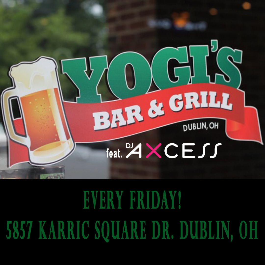 Proud to announce my new Friday home at Yogi's Bar & Grill in Dublin, OH